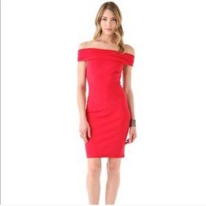 Halston Heritage red mini dress
